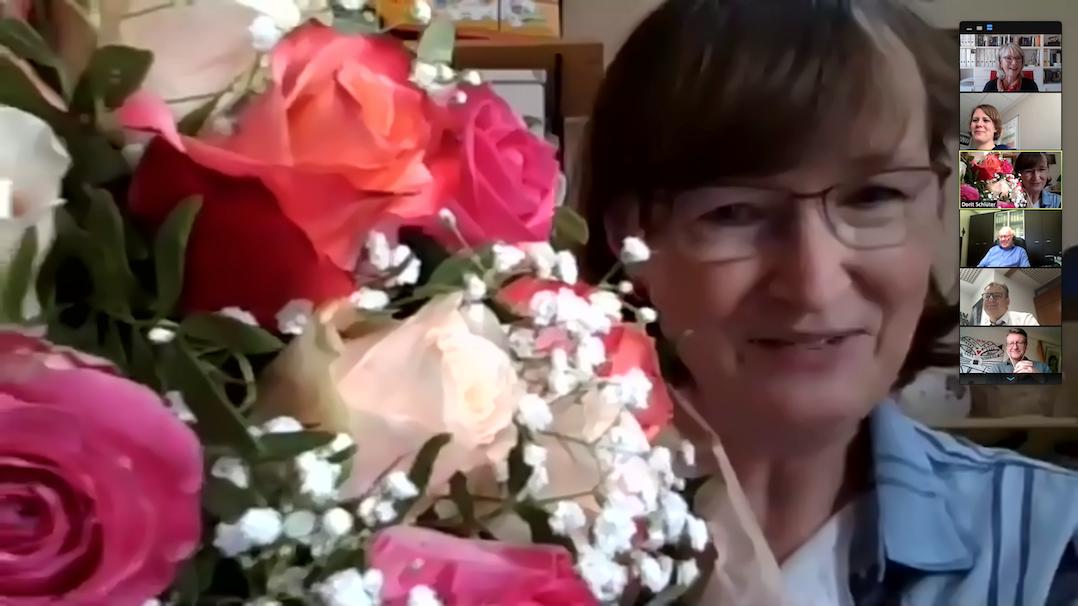 Virtuelle Verabschiedung von Dorit Schlüter
